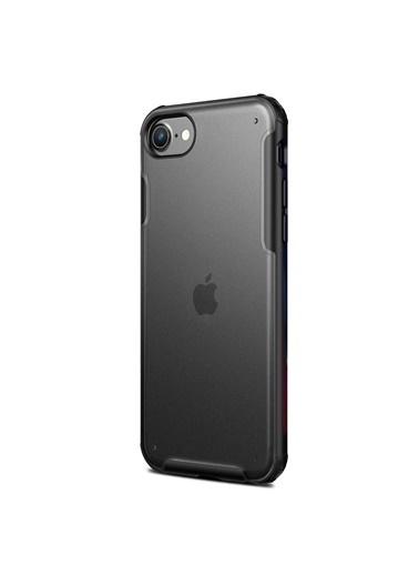 Microsonic Apple iPhone SE 2020 Kılıf Frosted Frame Siyah